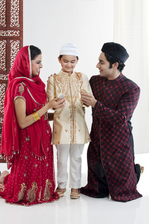 kurta: Muslim family Stock Photo
