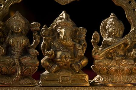 saraswati: Ganesh,Lakshmi and Saraswati idol