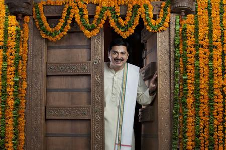 joyfulness: Portrait of a South Indian man Stock Photo
