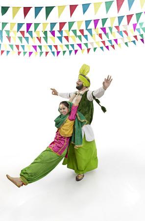 punjab: Sikh couple enjoying themselves