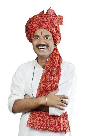 kurta: Portrait of a man smiling Stock Photo