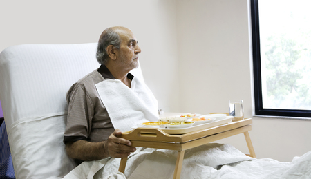 recuperating: Patient looking out of a window