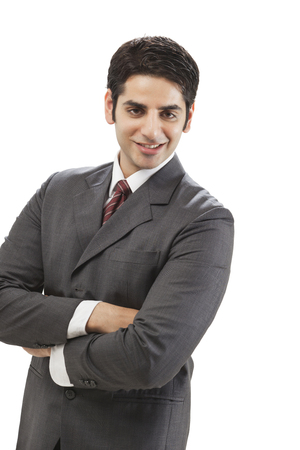 welldressed: Portrait of well-dressed businessman smiling