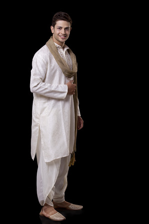 Portrait of a man in traditional attire
