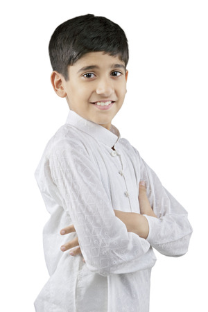 Portrait of a Gujarati boy Stock Photo