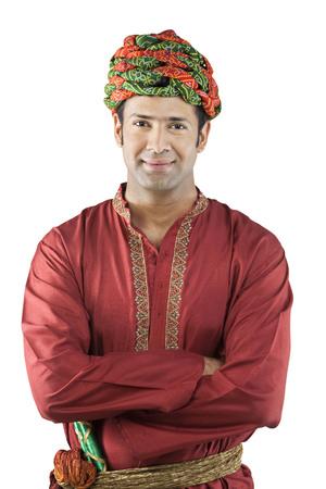 identidad cultural: Retrato de un hombre Gujarati