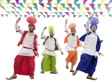 kurta: Sikh men dancing