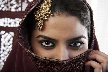 25 30: Close-up of a Muslim womans eyes