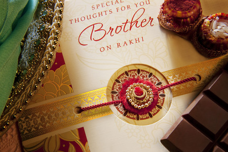 Rakhi and greeting card Stock Photo