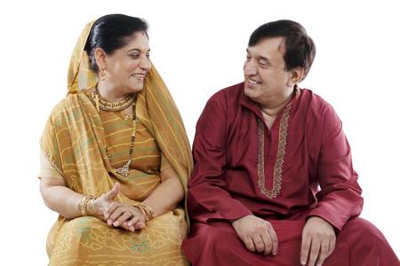 joyfulness: Portrait of a Gujarati couple