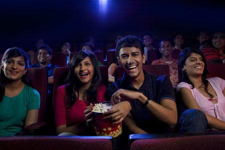 People watching a movie Stock Photo