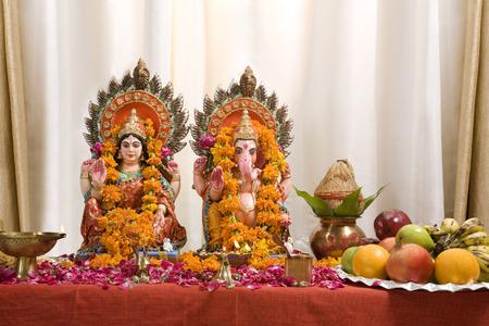 Ganesh and Lakshmi idols