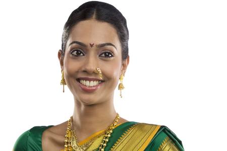 25 30: Portrait of a Maharashtrian woman Stock Photo
