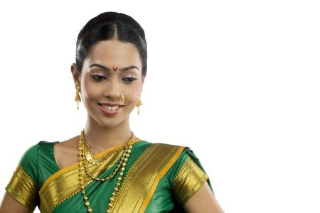 Portrait of a Maharashtrian woman Stock Photo