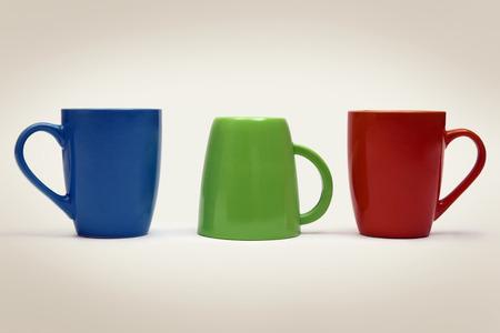 Colourful mugs Stock Photo
