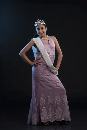 Portrait of a teenage beauty queen posing