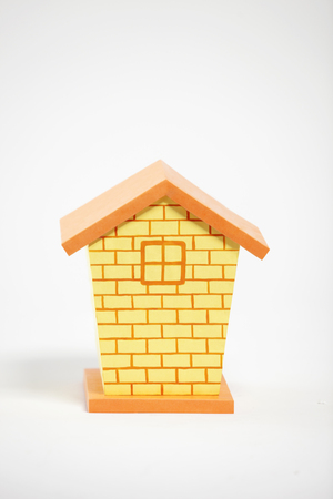 House model over white background