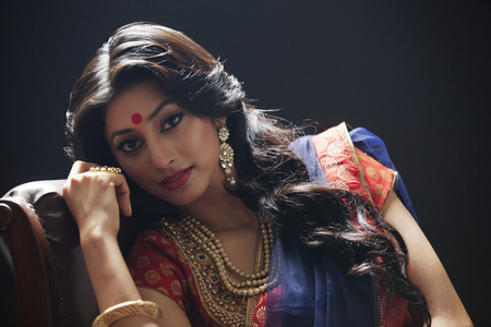 bride bangle: Portrait of a beautiful bride