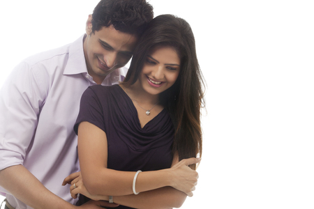engage: Couple embracing each other Stock Photo