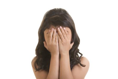 'eyes shut: Portrait of a girl