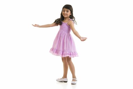 twirling: Girl twirling around