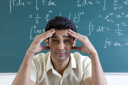 College student getting a headache