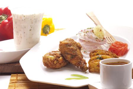 Tandoori chicken with raita
