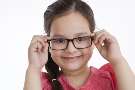 Portrait of little girl with spectacles