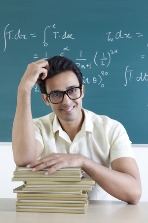 Portrait of a college student smiling Stock Photo