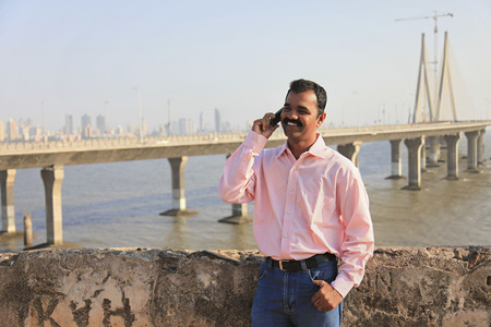 Man talking on a mobile phone
