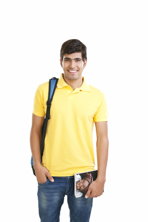 Portrait of a college student smiling Imagens