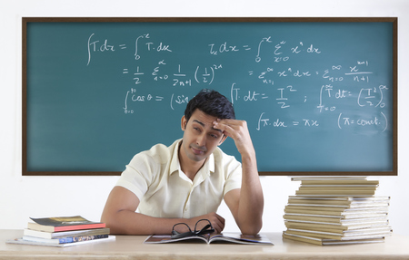 formula one: College student with a headache Stock Photo