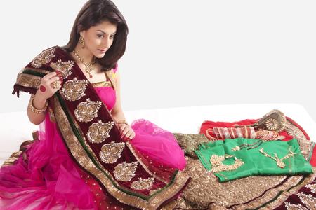 Beautiful woman with a saree