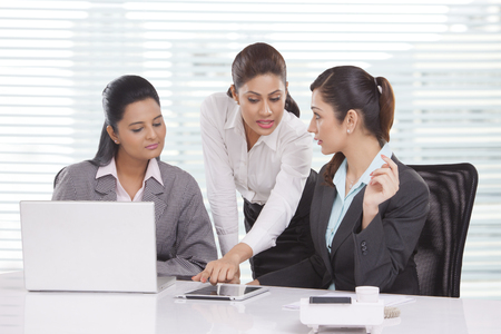 Portrait of young business women Stock Photo