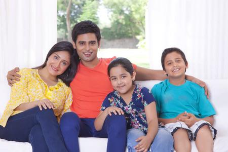 furniture: Portrait of family Stock Photo