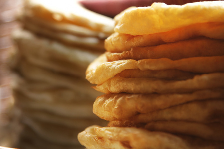 puri: Close-up of puris for sale