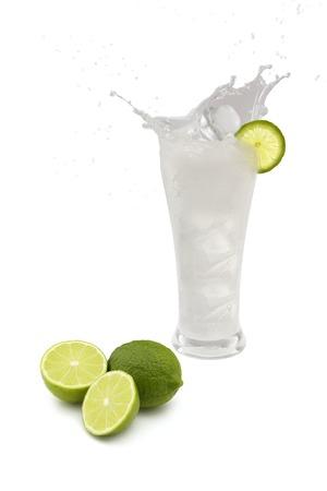 icecubes: Lime juice Stock Photo