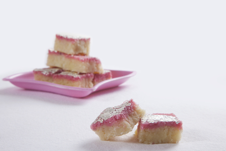 Close-up of coconut barfi Stock Photo