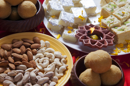 Close-up of sweets and nuts