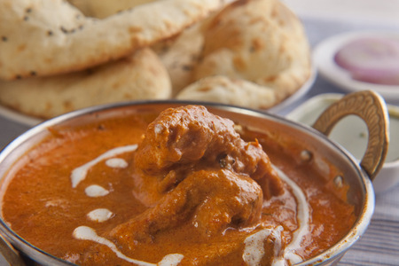 Close-up of delicious butter chicken Stock Photo