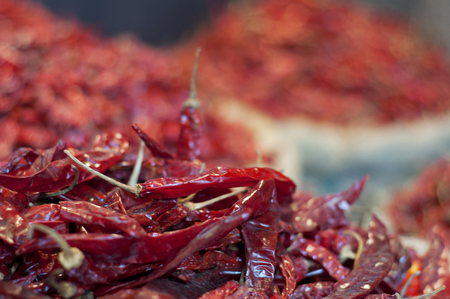 Close-up of dried chillies