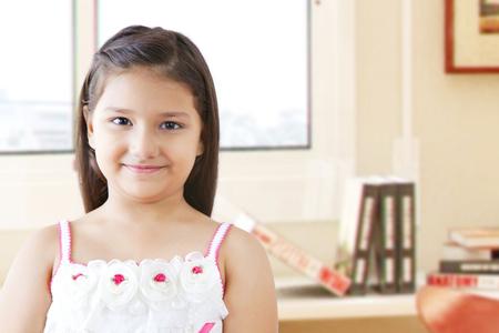 preadolescent: Portrait of smiling girl