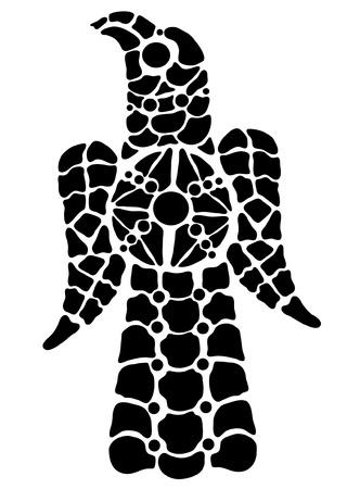 Indicador de vidro colorido na forma de uma  Ilustra��o