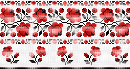 embroider: Vegetative ornament in the Ukrainian style
