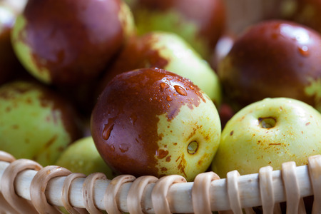 fruitage: Fresh jujube Stock Photo