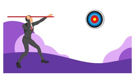 neat set of male character clothing with circle targets. focus on the target in front. a template with a separate background.