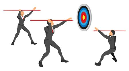 neat set of male character clothing with circle targets. focus on the target in front. a template with a separate background. calendar theme financial focus on the viewfinder.