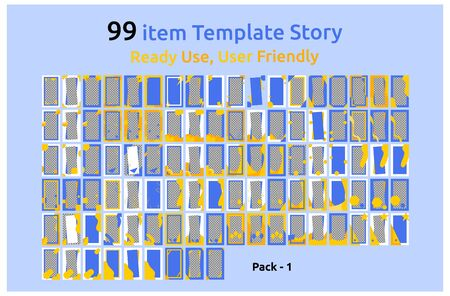 ready to use 99 social media story design template. Multiple banner options for product sales promotions. set a frame for the background. vector 일러스트