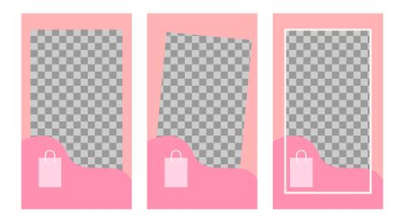social communication media story design templates. Multiple banner options for product sales promotions. set a frame for the background. vector Standard-Bild - 134628708
