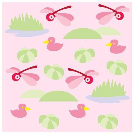 kindergarten pattern. minimalist child background. Ilustracja